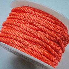 Galantéria - Šnúra točená 3mm-1m (oranžová) - 4130976_