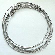 Komponenty - Lanko na krk Ø15cm-1ks (platina) - 4132619_