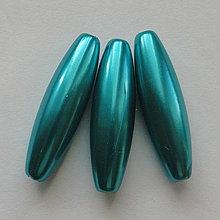 Korálky - GLANCE plast 10x30mm-1ks (tyrkys) - 4132780_
