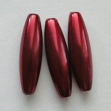 Korálky - GLANCE plast 10x30mm-1ks (bordó) - 4132818_