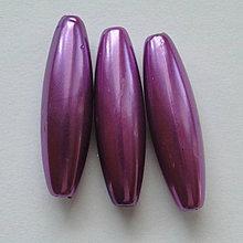 Korálky - GLANCE plast 10x30mm-1ks (fialová) - 4132837_