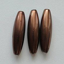Korálky - GLANCE plast 10x30mm-1ks (hnedá) - 4132846_