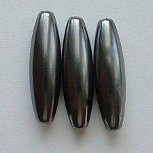 Korálky - GLANCE plast 10x30mm-1ks (tm.šedá) - 4132864_
