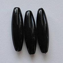Korálky - GLANCE plast 10x30mm-1ks (čierna) - 4132878_