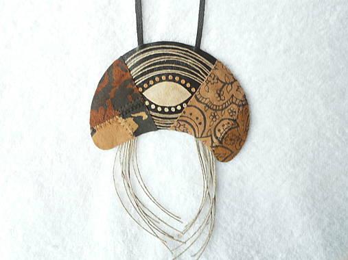 daacd7929 Náhrdelník kožený, indiánske očko / MilicaM - SAShE.sk - Handmade ...