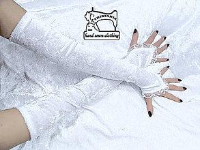 Rukavice - Svadobné zamatové  rukavice 1000 - 4135764_
