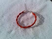 Náramky - Kabbalah náramok z červenej kože. - 4139615_
