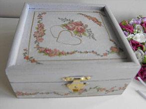 Krabičky - svadobná jemná krabička - 4136481_