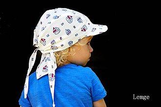Detské čiapky - šiltovka-pirát-loďka--MODRÁ - 4136869_