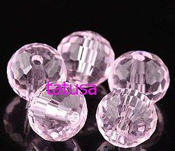Korálky - Korálky - sklenené brúsené disco ball 6mm - rosaline - 4142369_