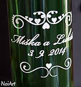 Darčeky pre svadobčanov - Etikety na svadobné fľaše 1 - 4140136_