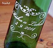 Darčeky pre svadobčanov - Etikety na svadobné fľaše 1 - 4140138_