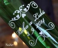 Darčeky pre svadobčanov - Etikety na svadobné fľaše 1 - 4140143_