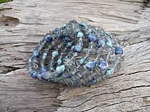 Náramky - Náramek Modrá spirála - 4142959_