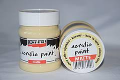 Farby-laky - Matná akrylová farby, mliečná káva 230 ml - 4142165_