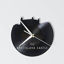 Hodiny - Bratislava Castle - vinylové hodiny - 4140553_
