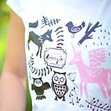 Tričká - My beautiful day with unicorn (biele krátke) - 4141886_