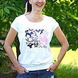Tričká - My beautiful day with unicorn (biele krátke) - 4141888_