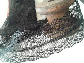 Galantéria - čipka - krajka - čierna (4 cm) - 4145187_