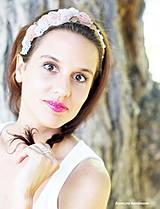 Ozdoby do vlasov - textilná čelenka - takmer svadobná - 4144695_