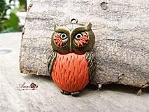Náhrdelníky - B106 náhrdelník Owl - 4144095_