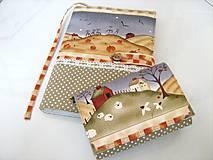 Papiernictvo - Na chaloupce v horách-obal na knihu, diář,zápisník - 4145611_