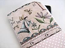 Na mobil - Andělínka Modroučká - na mobil, vyšívané rokajlem - 4145768_