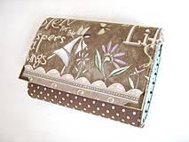 Peňaženky - Andělínka Modroučká - peněženka i na karty - 4145934_