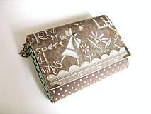Peňaženky - Andělínka Modroučká - peněženka i na karty - 4145937_