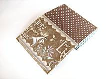 Peňaženky - Andělínka Modroučká - peněženka i na karty - 4145938_