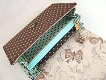 Peňaženky - Andělínka Modroučká - peněženka i na karty - 4145939_