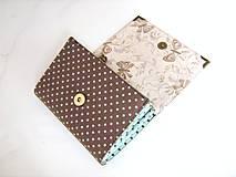 Peňaženky - Andělínka Modroučká - peněženka i na karty - 4145940_