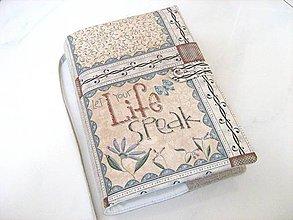 Papiernictvo - Nech promluvit život -obal na knihu, diář,zápisník - 4145643_