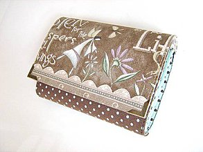 Peňaženky - Andělínka Modroučká - peněženka i na karty - 4145933_