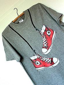 Tričká - červené boty / vel. 3XL / zľava!!! - 4147185_