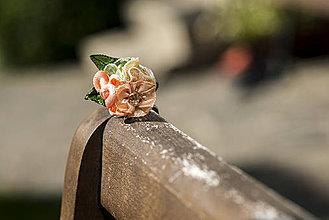 Prstene - Prsteň z marhuľovej peny - ZĽAVA - 4146581_