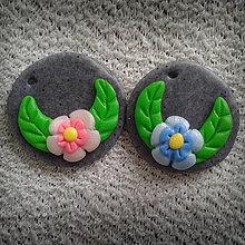 Náhrdelníky - Kvietky na kameni - NA ZÁKAZKU - 4147868_