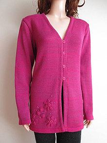 Iné oblečenie - Sveter růžovo-malinový  SLEVA z 36,- - 4153078_