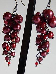 Náušnice - Červené ríbezle - 4151227_