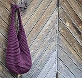 Veľké tašky - taška...burgundská - 4152256_