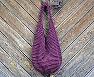 Veľké tašky - taška...burgundská - 4152258_