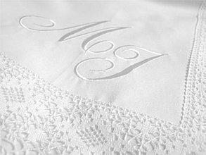 Úžitkový textil - Vyšívané iniciály veľké - 4150929_