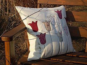 Úžitkový textil - Vankúš tulipkový  - 4156136_