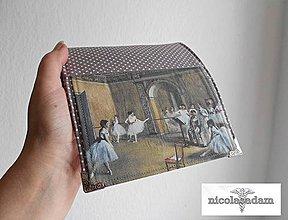 Peňaženky - Peněženka harmonika malá 13x10cm- degas- baletky - 4154117_