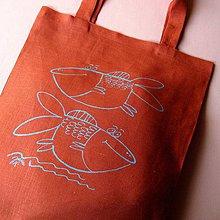 Nákupné tašky - ŠUPINÁČI - lněná taška - 4155109_