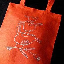 Nákupné tašky - Na TULIPÁNKU - lněná taška - 4155197_