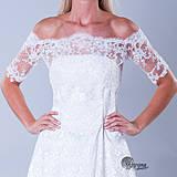 Šaty - Bolerko k svadobný šatám z luxusnej krajky - 4154312_