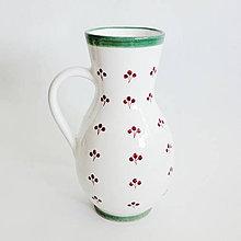 Nádoby - džbán zeleno - červený lesklý - 4156610_
