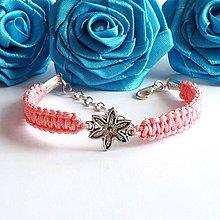 Náramky - Ružový náramok KVIETOK - 4158013_