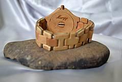 Náramky - SK8 v čase - Drevené hodinky - 4159031_